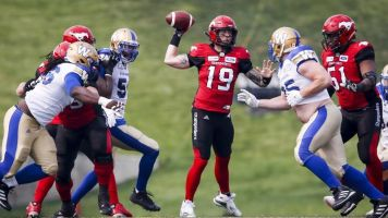 Stampeders, Redblacks look to earn home playoff wins in CFL division finals