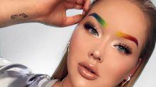 No mês do orgulho LGBT, sobrancelha de arco-íris se torna hit do Instagram
