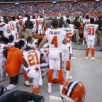 First white NFL player kneels during national anthem, joining civil rights protest started by Colin Kaepernick