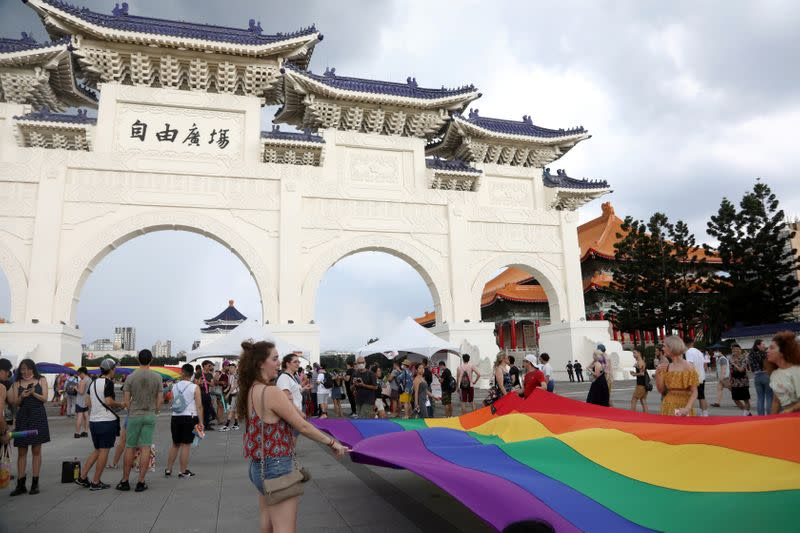 Taiwan Pride Parade For the World rally in Taipei