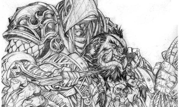Take a look at World of Warcraft: Bloodsworn comic preview art