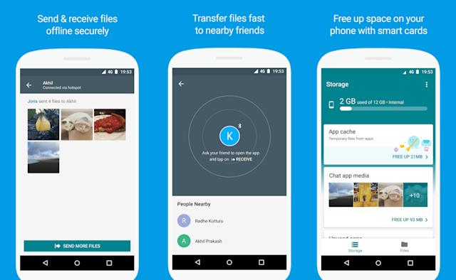 Google extends Files Go offline sharing app beta to more users