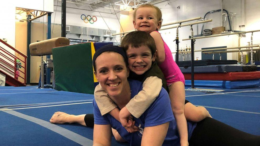12 years after Olympic run, gymnast makes a comeback as a mom of 2 (ABC News)