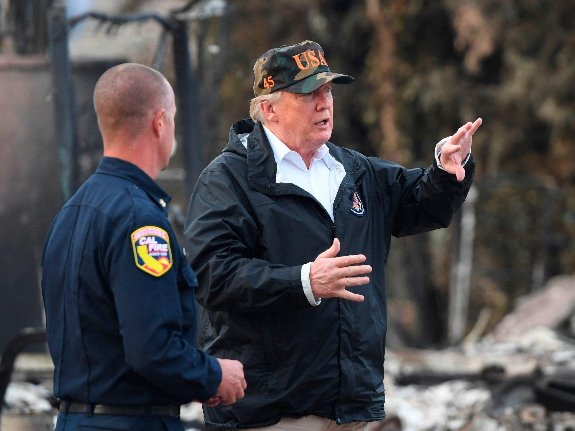 Trump leaves Finland bewildered by claiming country stops wildfires by 'raking and cleaning'