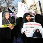 Iranian women protest US arrest of state TV journalist