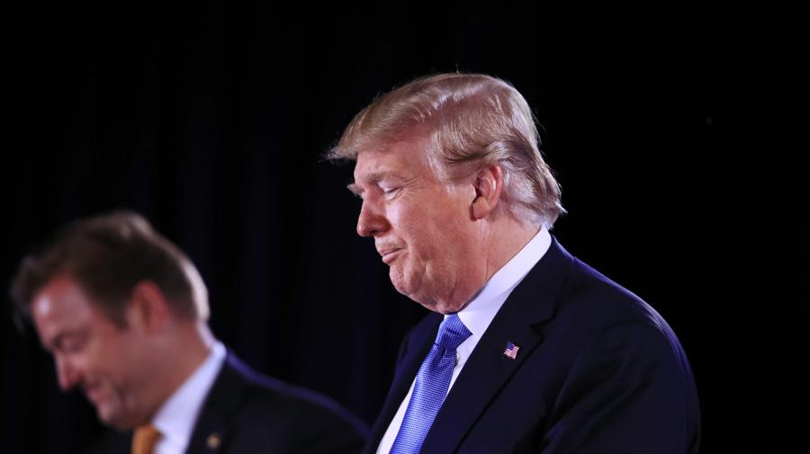 Trump defends policies on border, North Korea