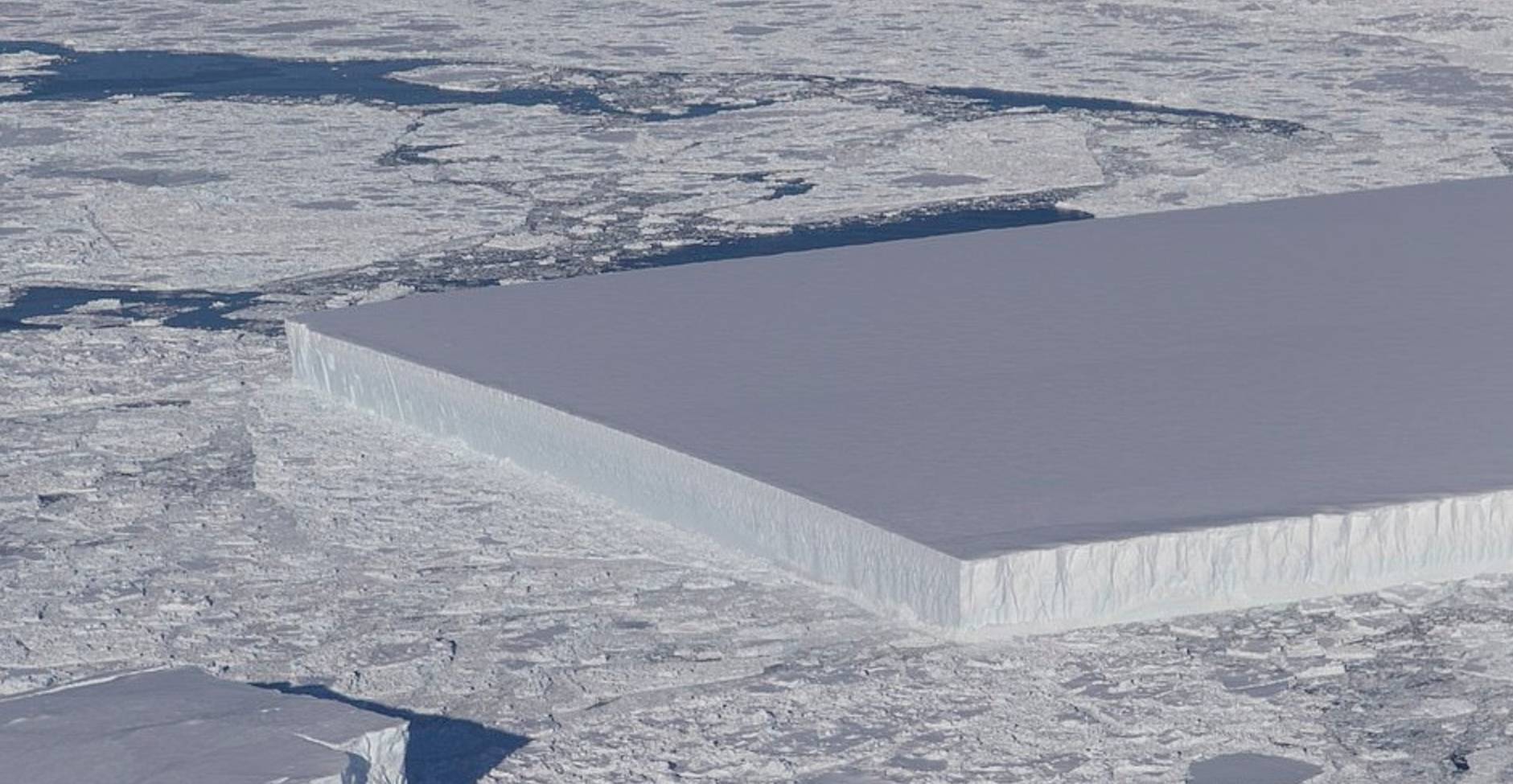 Near-perfect rectangular iceberg found in Antarctica