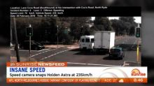 Suspicions arise after speed camera records car driving 235km/h