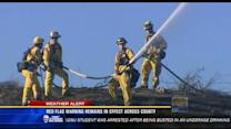 Red flag warning expires, firefighters sill on alert