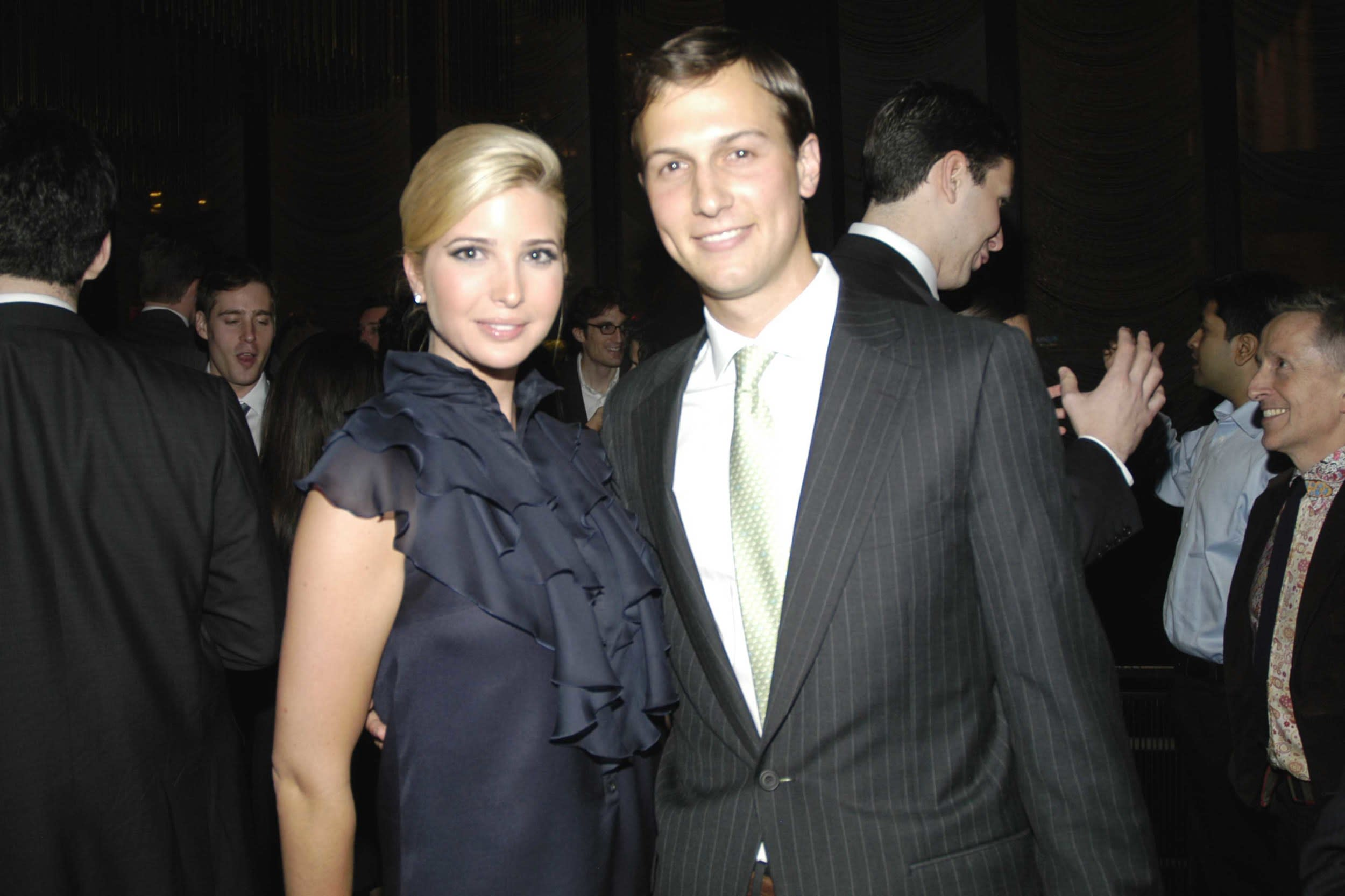 NEW YORK CITY, NY - APRIL 18: Ivanka Trump and Jared Kushner attend Jared Kushner and Peter Kaplan Present the Relaunch of the New York Observer Website at Four Seasons Restaurant on April 18, 2007 in New York City. (Photo by PAUL LAURIE/Patrick McMullan via Getty Images)
