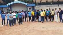 Bengaluru: Municipal officials practise cricket as city battles deadly floods