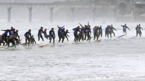 Surfin' USA: Waves Crowded as Number of Surfers Surges