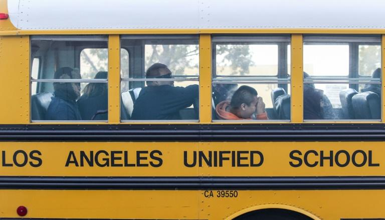 Los Angeles has announced that classes will be entirely online at public schools in the fall (AFP Photo/RINGO CHIU)