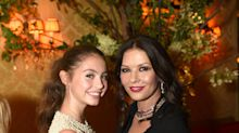 Catherine Zeta-Jones and Michael Douglas's 15-year-old daughter is feted at fashion week party