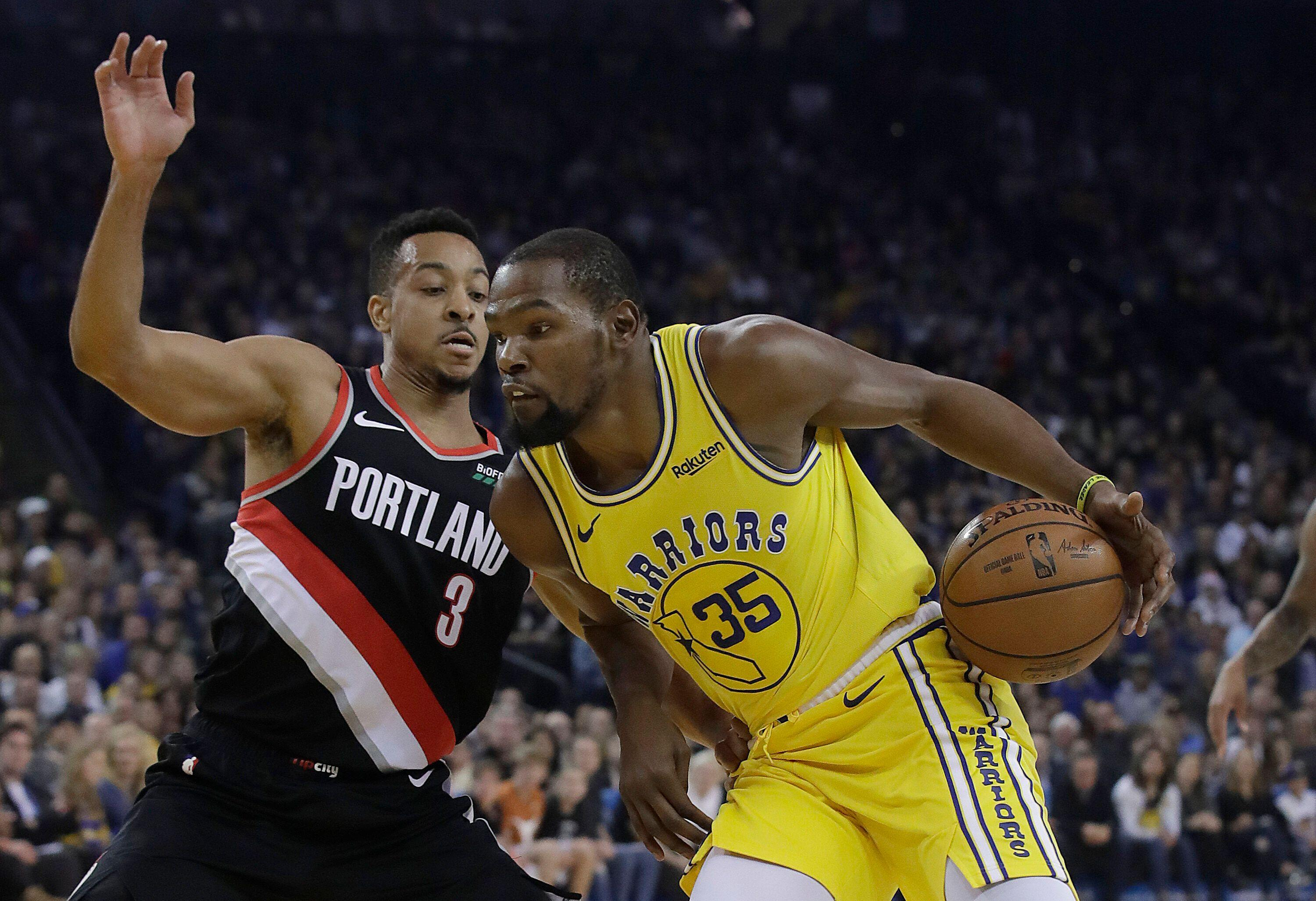 3754c9941a3 CJ McCollum earns chance to get back at Kevin Durant for Twitter feud