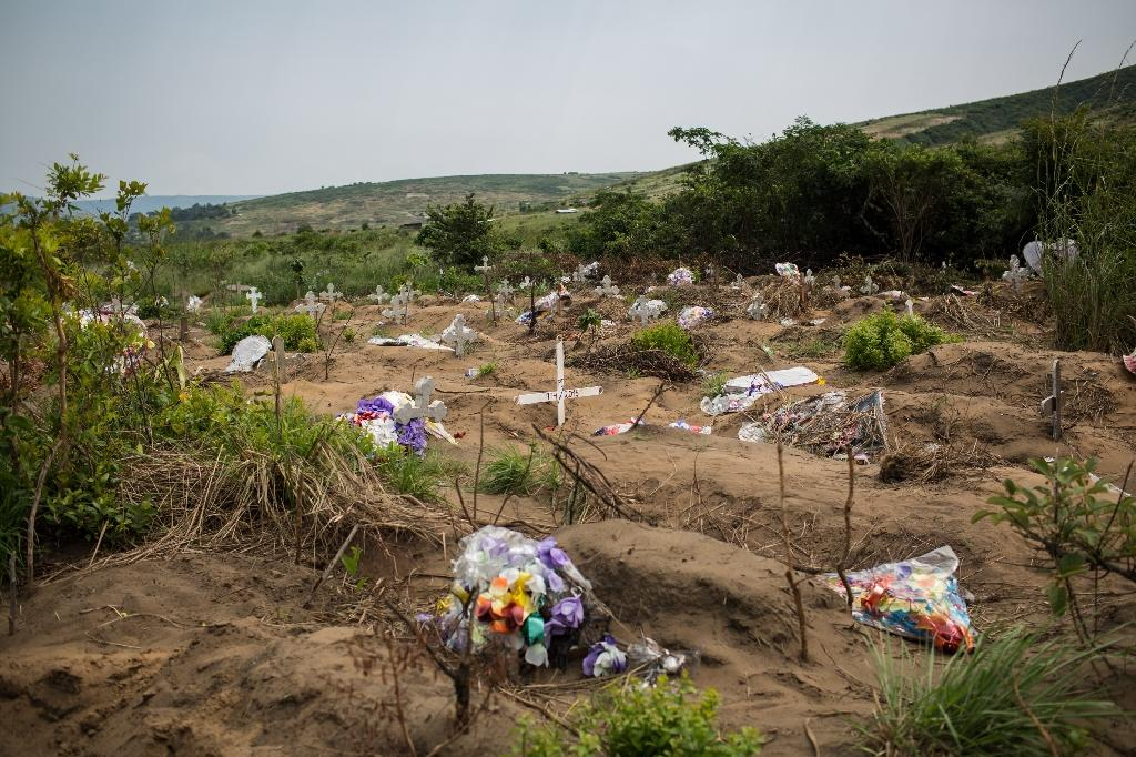 Congolese authorities have yet to provide clarity about who is buried at the Maluku cemetery, campaigners say (AFP Photo/Federico Scoppa)