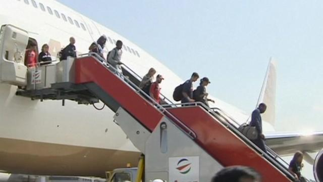 Houston Rockets arrive in Manila to play Indiana Pacers