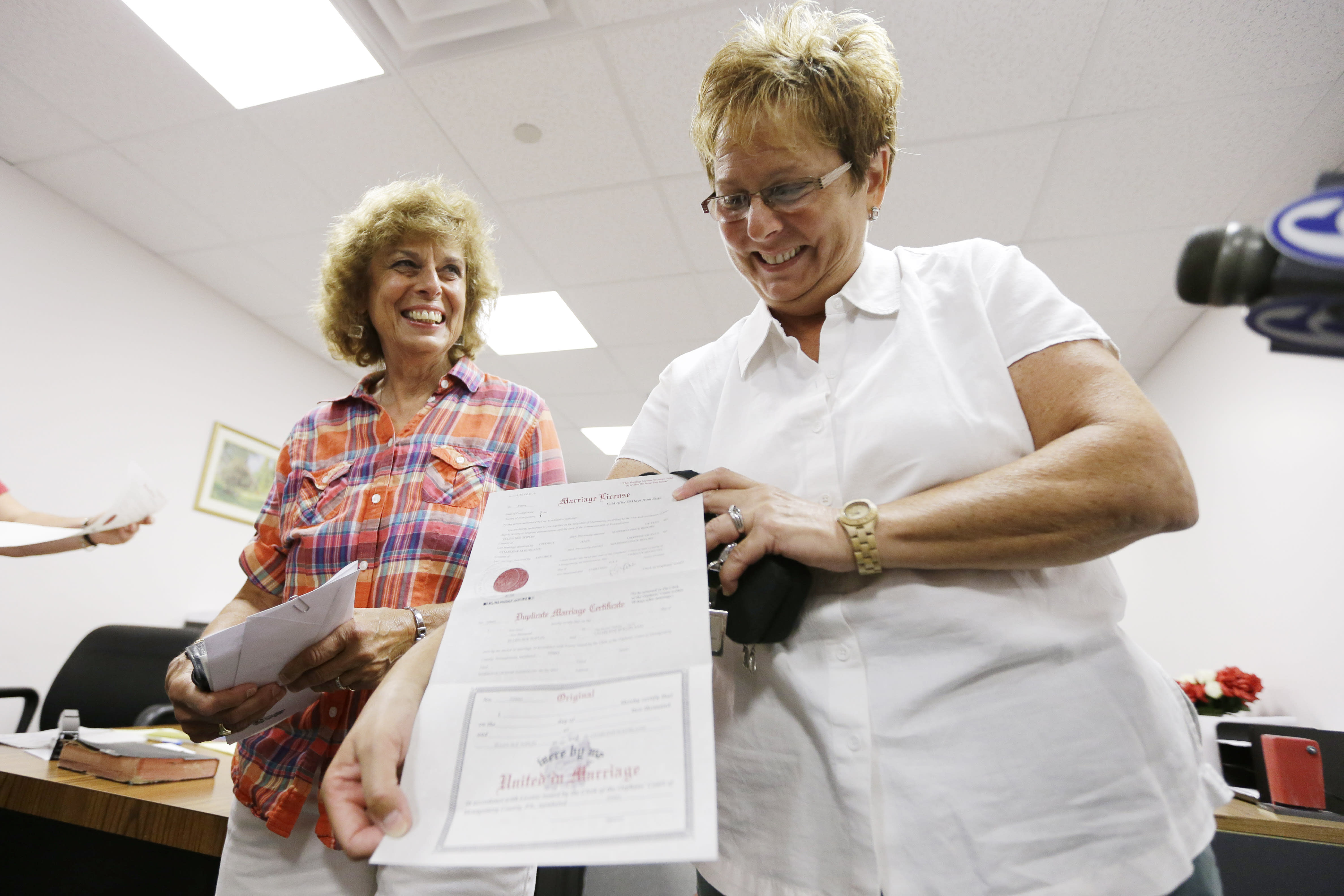 same sex unions vs marriage licenses in Northampton