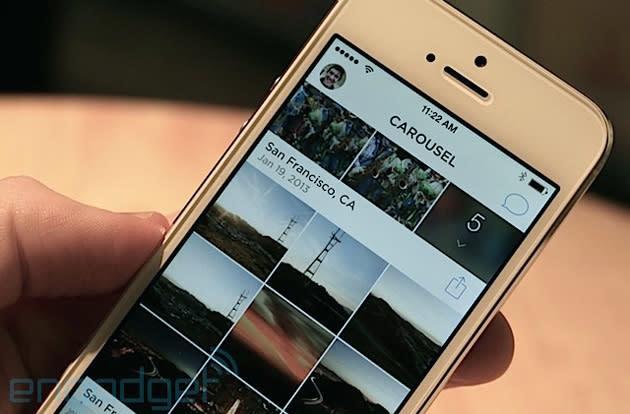 Dropbox's Carousel organizes your lifelong memories in one app