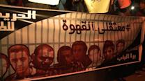 Egyptian youths rally against the jailing of three activists
