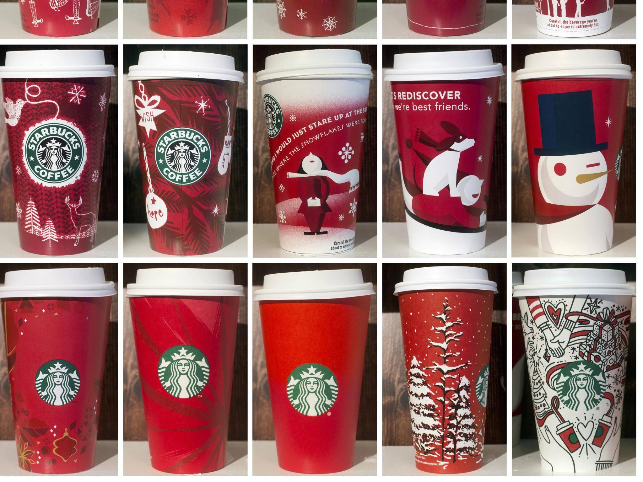Starbucks under fire over holiday cups that 'feature same-sex couples' hands'