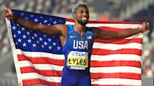 Noah chance of a world record for Lyles as he sets off from wrong starting block
