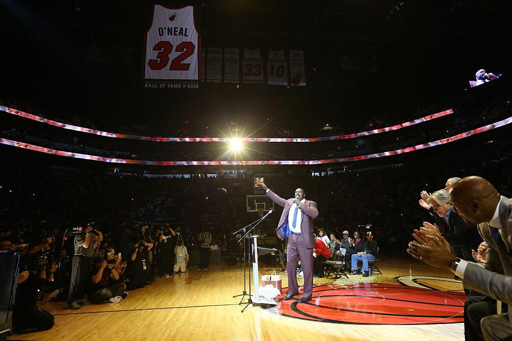 585e864e76a The Heat retired the number of Shaquille O'Neal, a 'once-in-a-lifetime  player'
