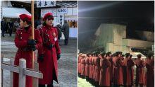 【新年名物】日本鶴岡八幡宮「紅警備隊」 制服超有型