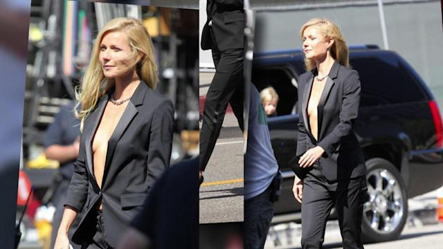 Gwyneth Paltrow Works a Tuxedo Suit on Her New Hugo Boss Campaign