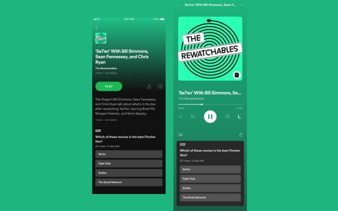 Spotify Podcast Polls