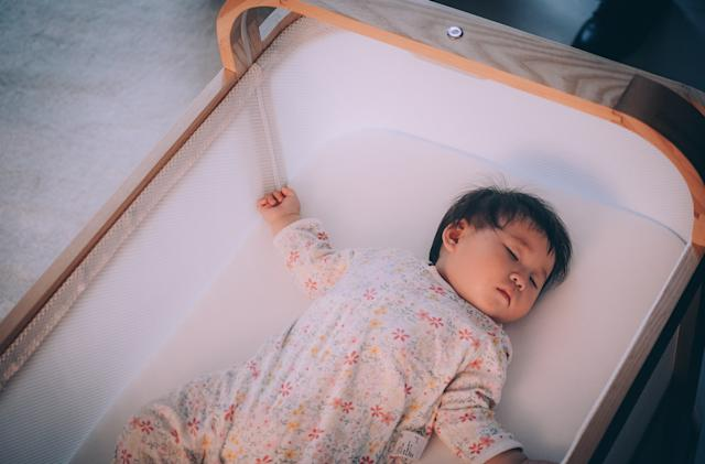 This AI smart crib gently bounces waking babies back to sleep