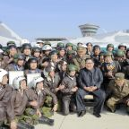 North Korea's Kim attends military air show, lauds pilots