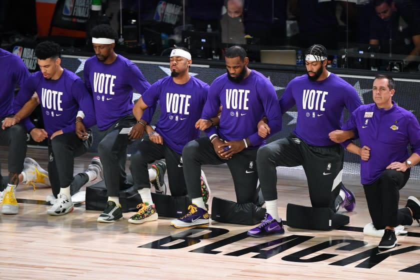 LeBron James ve Lakers, sosyal adalet için NBA aktivizminde başı çekiyor