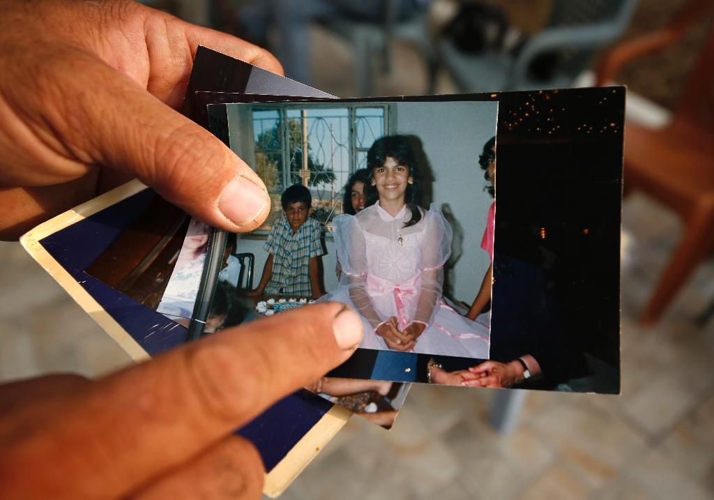 Palestinian-American congresswoman Rashida Tlaib, here seen in a family picture as a young girl, once heckled Trump during a 2016 campaign stop interrupting one of his speeches (AFP Photo/ABBAS MOMANI)