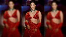 Pics: Kiara Advani Stuns in Red at India Couture Week 2019