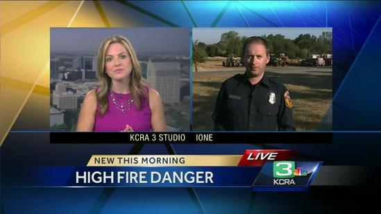 Cal Fire on alert for high fire danger this weekend