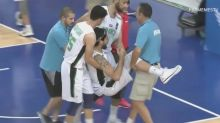 Filipino player actually injures Iraqi defender with huge ankle-taking crossover