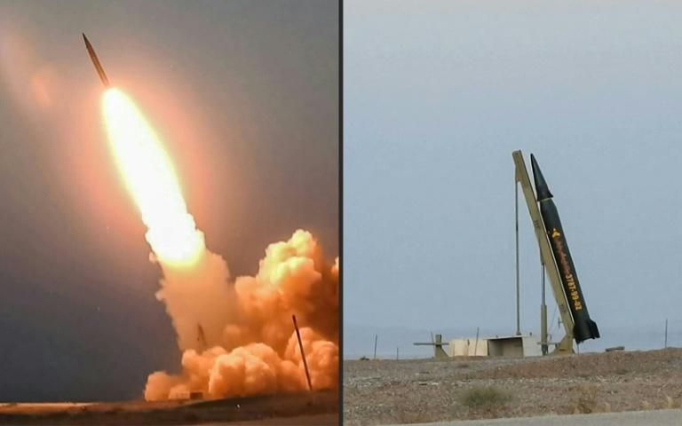 """Iranian ballistic missile named """"Ghassem Soleimani"""" (Qasem Soleimani), after the late military commander killed in a US drone strike in Baghdad in January, being launched from an undisclosed location"""