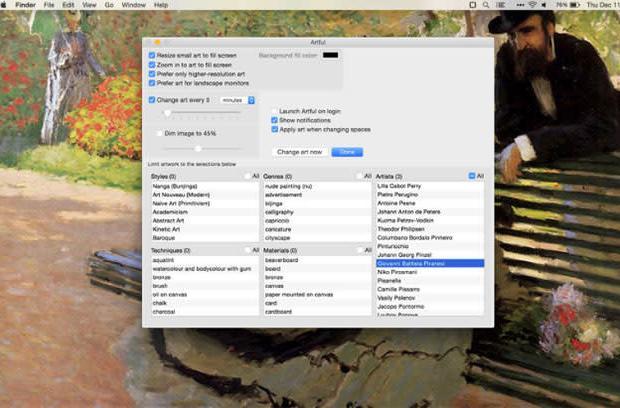 Artful for Mac: Desktop art that matches your taste