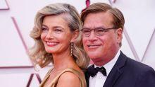 Paulina Porizkova says Aaron Sorkin kept her 'warm all night' at the Oscars
