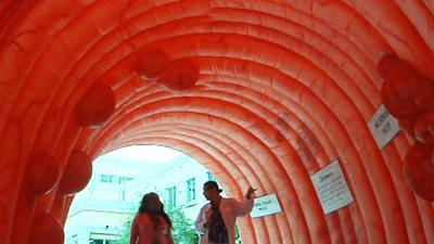 Giant Inflatable Colon Teaches Cancer Awarenes