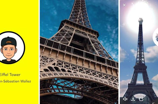 Snapchat 'Landmarkers' bring the Eiffel Tower to life in AR