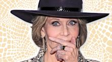 Jane Fonda, 80, looks smokin' hot in snakeskin-print pantsuit