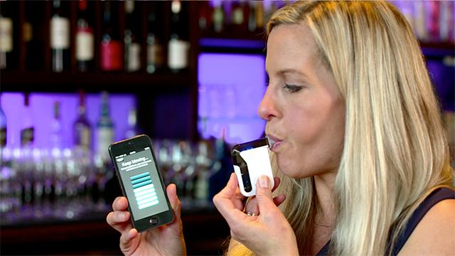 Smartphone Device Tracks and SHARES Your Blood Alcohol Level