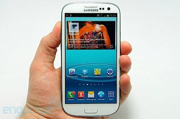 Samsung Galaxy S III: Pentile Super AMOLED used 'because it lasts longer'