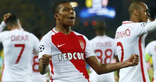 Foot - C1 - Monaco - Mbappé bat des records de précocité en Ligue des champions