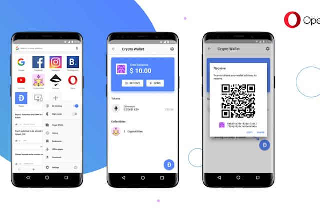 Opera tests an in-browser cryptocurrency wallet on Android