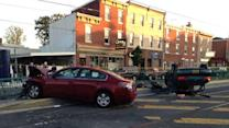 4 injured in 2-car crash in Fishtown
