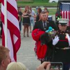 'Goodbye My Brother': Hundreds Say Goodbye To Hero Marine Dog In Emotional Ceremony