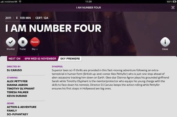 Sky mobile apps on the way include Movies channel companion for iOS, Go for Android